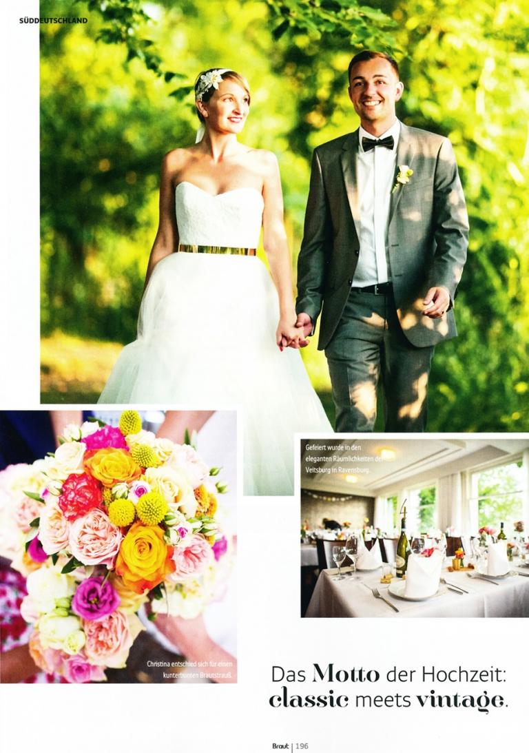 Veröffentlichung in der Braut